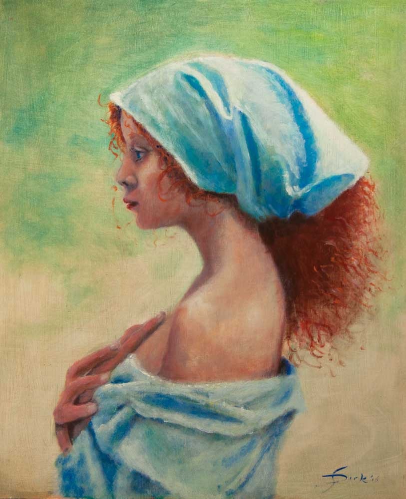 Girl with red hair