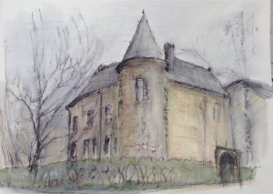 Chateau Clavy Warby - Drawing Dirk van der Stouw