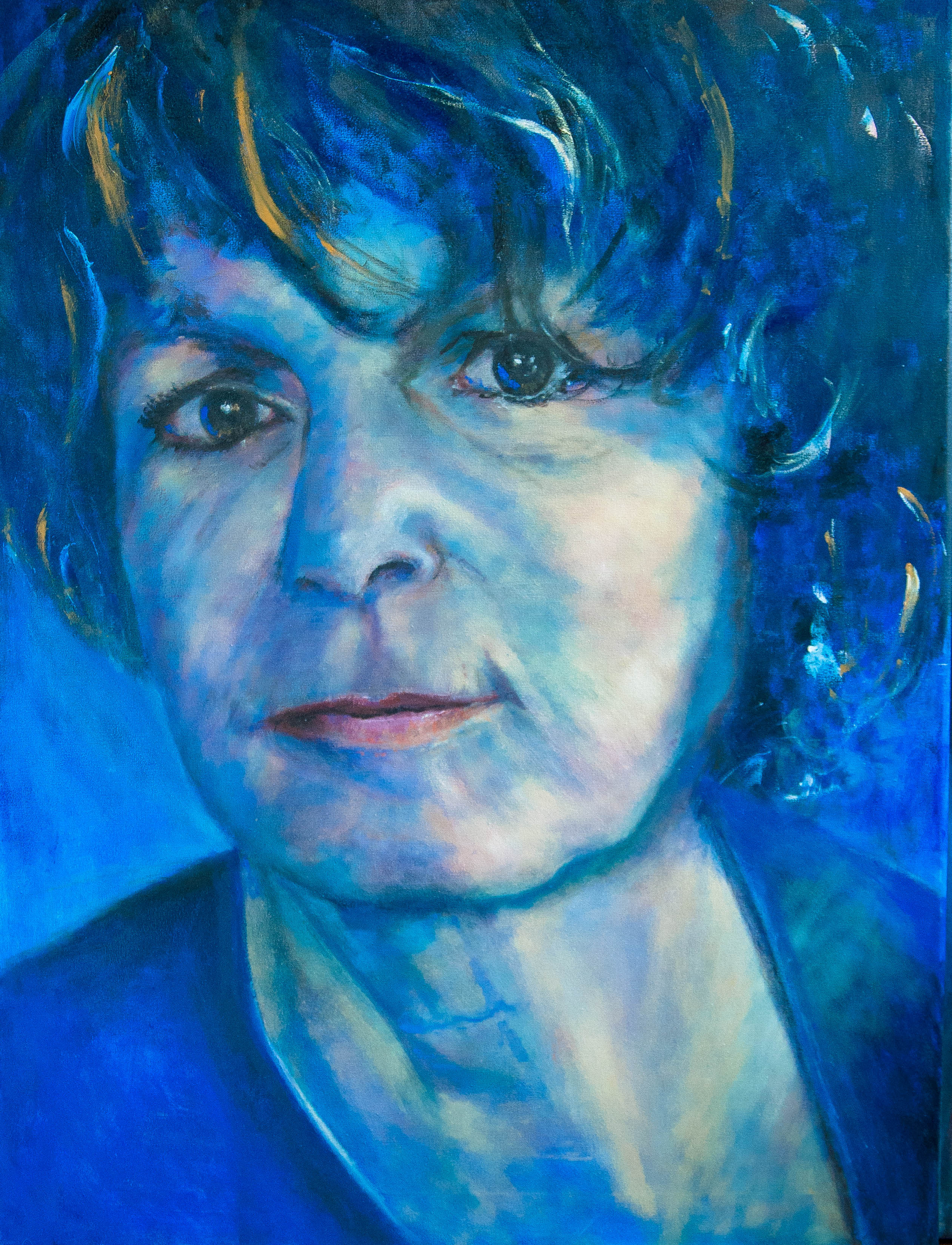 Painting Elise's blue mind (2020) Oilpainting on cotton, 80 x 60 x 4 cm Not available