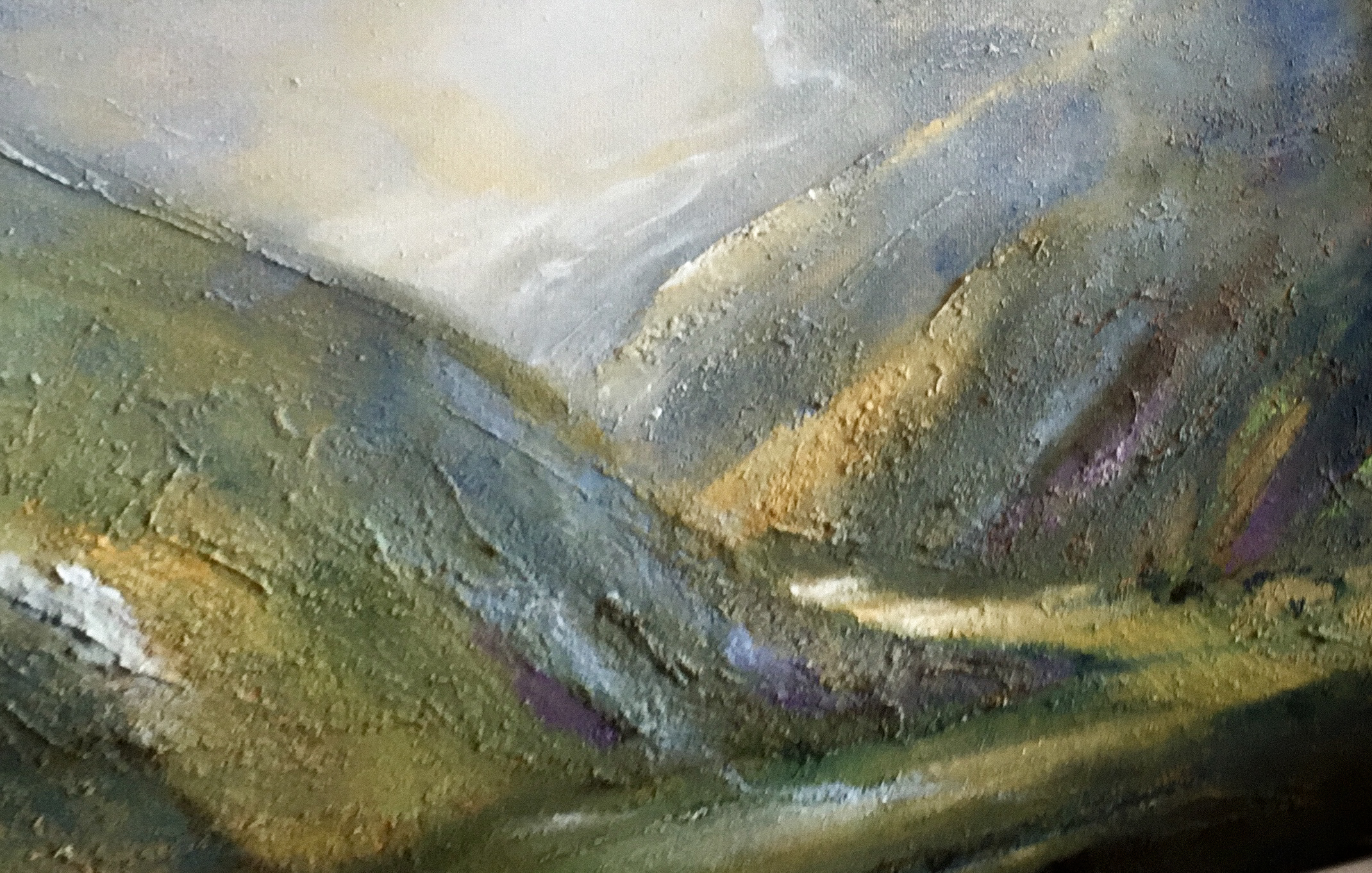 Painting Mountainlightscape (2020) Oilpainting on linnen, 30 x 40 x 2 cm Not available